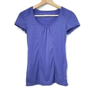 Zella Purple Top Short Sleeve Fitted XS